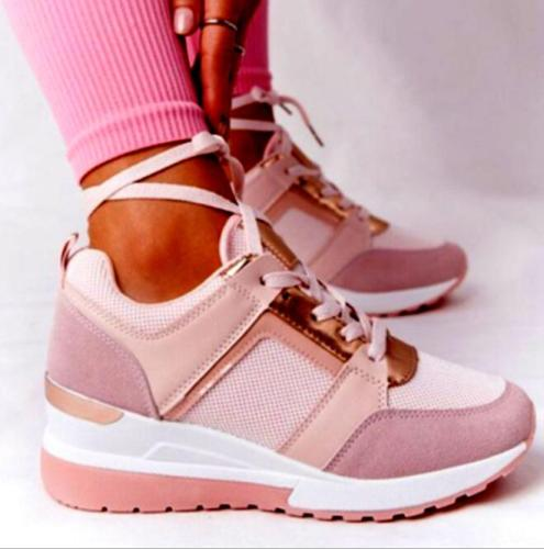2021 Women Chunky Sneakers Solid Color Platform Shoes Thick Bottom Zipper Women's Vulcanized Shoes Sneakers Zapatos De Mujer