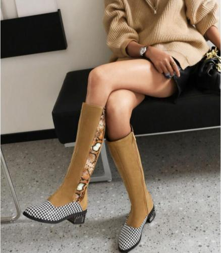 2021 NEW Winter Boots Women  Boots Fashion Mesh Gladiator  Female Knee High Boots Mujer Breathable Zip Sexy Lace Boot