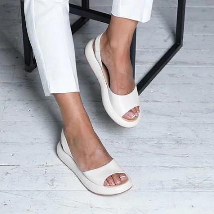 Slide Round Summer Casual Flat Heel Women Flats