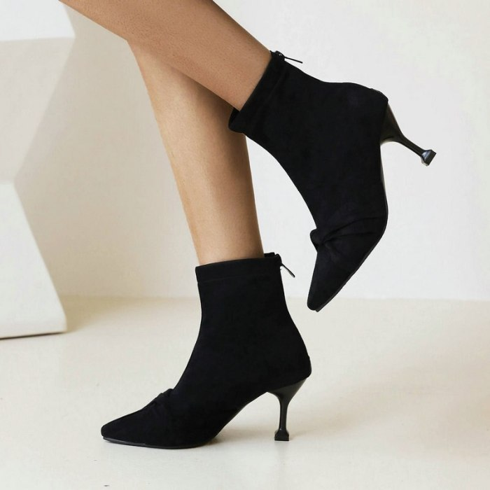 Ladies Short Boots Autumn Winter Fashion Ankle Boots Female Color Matching Special-Shaped Large Size Women's Shoes 34-48