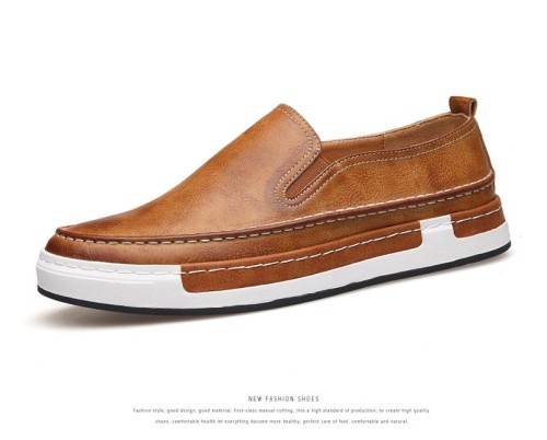 Men Leather Loafers Breathable Shoes