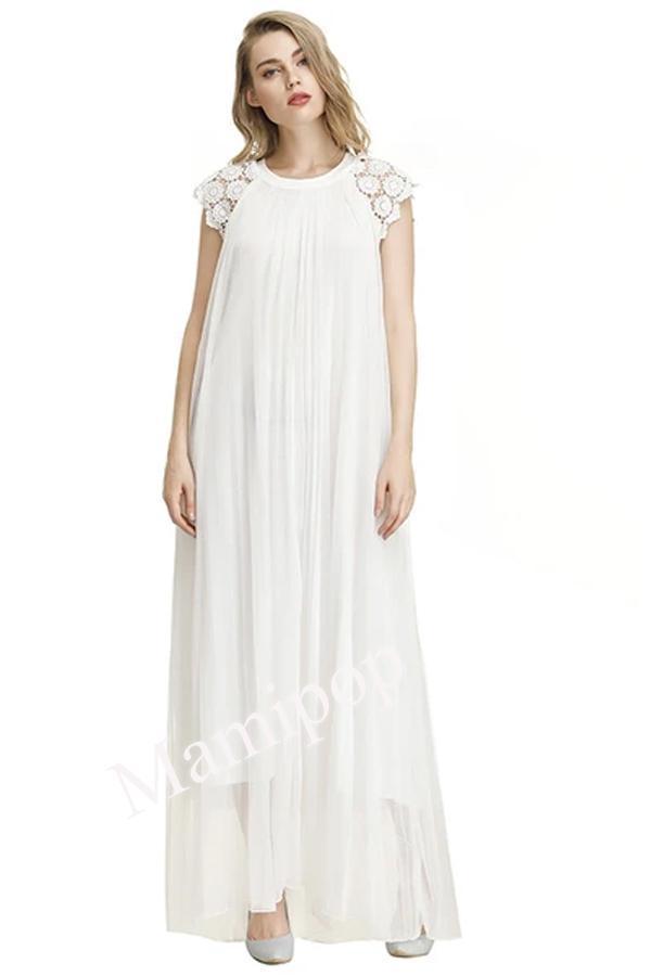 New Dress Round Neck Short Sleeve Dress Pregnant Women's Loose Long Skirt