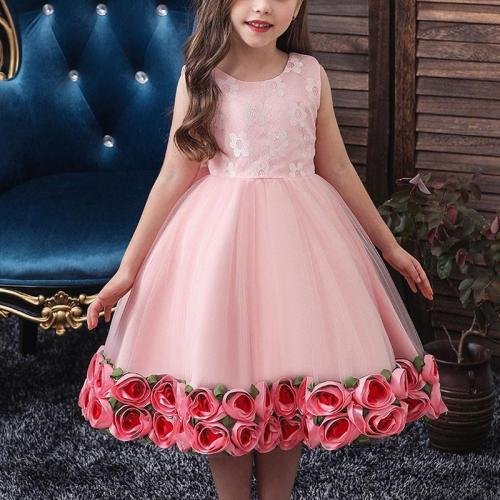 Sleeveless Rose Princess Evening Dress