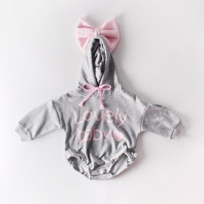 Autumn and Winter Baby Big Bow  Clothes with a Hat  Romper