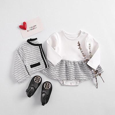 2020 Spring Baby Princess Fragrance Long Sleeve Cardigan + Two-Piece Suit