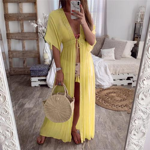 Maternity Lace Cardigan Solid Color Holiday Dress