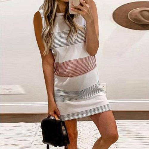 Maternity Multi-Color Stitching Dress