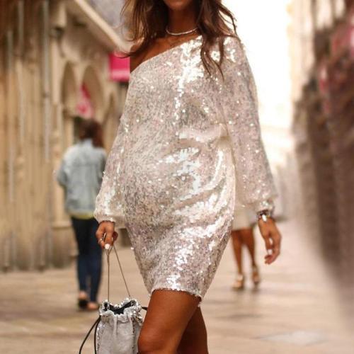 Maternity Fashion Loose Paneled Dress