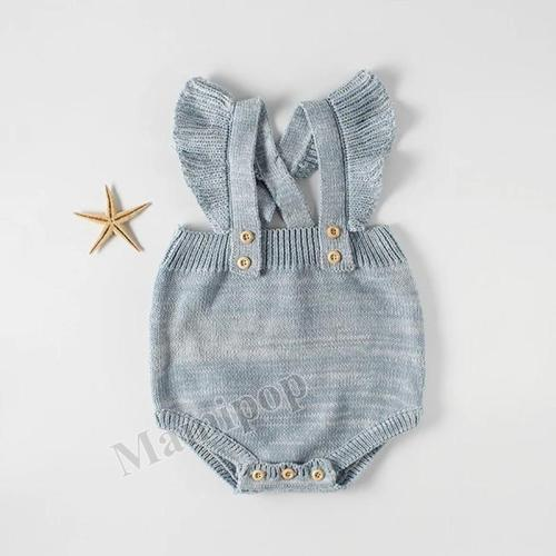 Baby's Flying Sleeve Wrap Up Fart Clothes Mixed Color Sweater Princess One-piece Romper