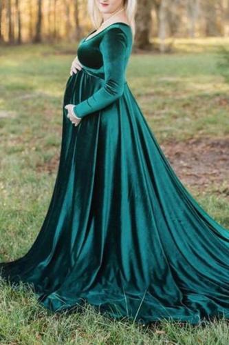 Maternity  Gorgeous Mop Velvet Deep V Ladies Long Skirt