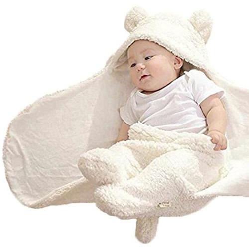 Fashion Baby blankets newborn Cute Cotton Receiving White Sleeping Blanket Boy Girl Wrap