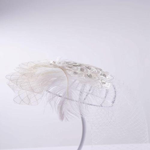 Bridal net headdress banquet horse racing church headdress
