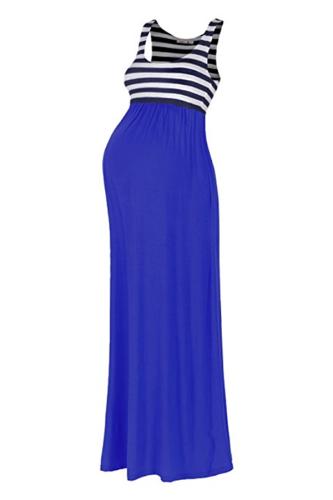 Maternity Stripe Maxi Tank Dress