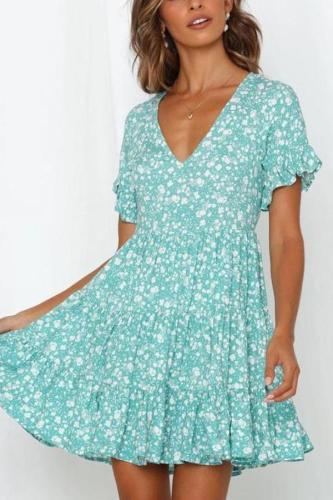 Maternity Floral Short-Sleeved Dress