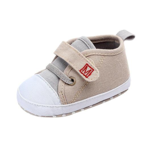 Fashion Baby Shoes Newborn Baby Shoes Girls Boys  Canvas Letter First Walker Soft Sole Shoes