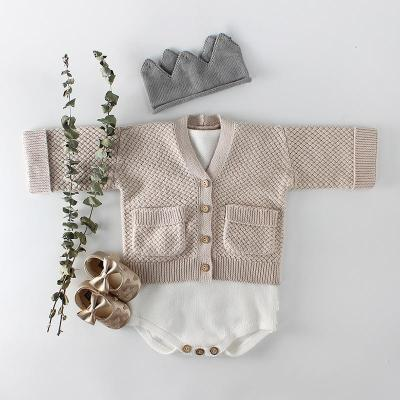 Autumn Clothing New Girls and Young Children's Wool Enskirts Knitted Jacket Top Cardigan
