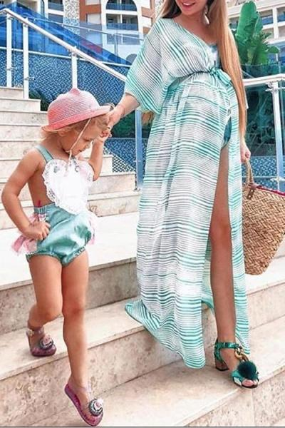 Maternity Stripe Maxi Dress