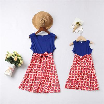 Mom Girl Sleeveless Matching Dress