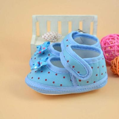 Baby Bowknot Boots Soft Crib Shoes Baby Girl Print Toddler Shoes Buckle Single Shoes