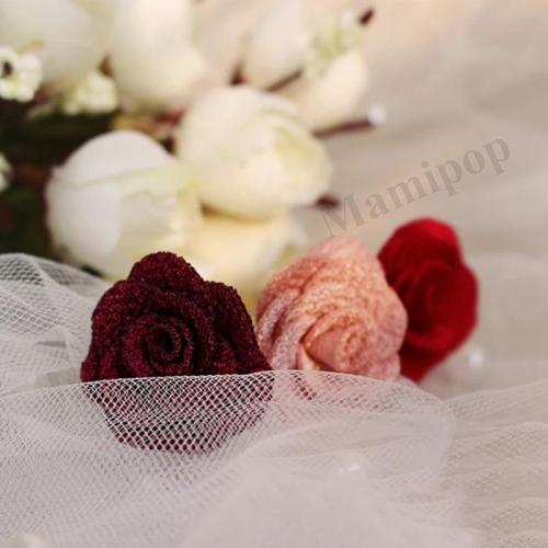 Fashion Girls Flower Hairpins Chiffon Kids Solid Hair Accessories