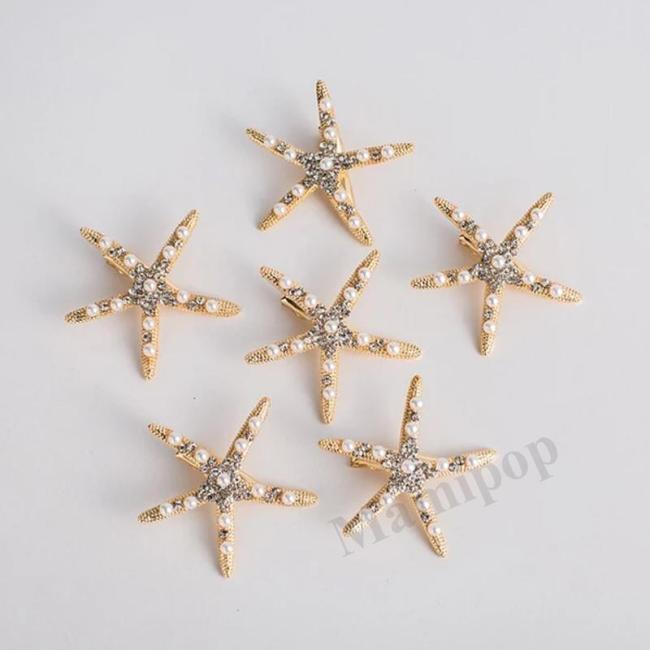 Fashion Starfish Bridal Hair Comb  Hair Clip Photography Accessories