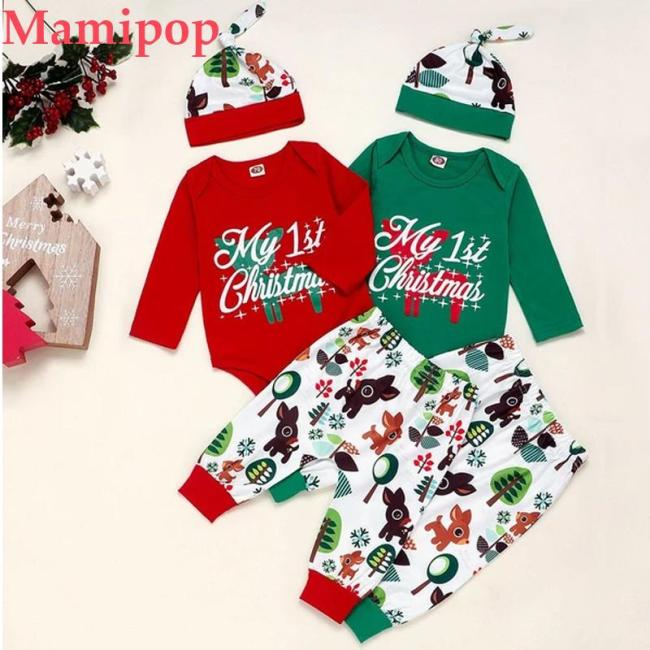 Christmas Autumn Clothes for Baby Infant Long Sleeve Cartoon Romper