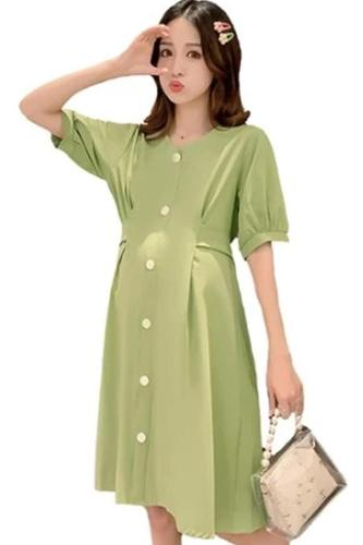 Korean Vintage New Women Dress Loose V Neck Bow Summer Dress