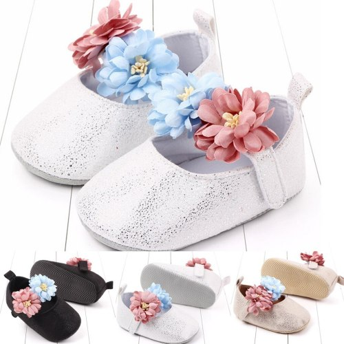 New baby girl shoes Spring autumn baby toddler shoes non-slip baby flowers shallow mouth princess shoes