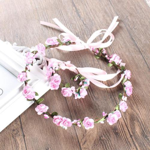 Classic plum flower rattan bride headband accessories