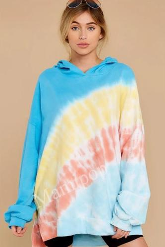 Women's Autumn/winter New Tie-dyed Headguard Hoodie