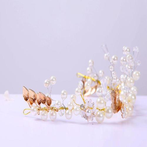 Bride ornaments handmade beaded cuba rock gold leaf wedding accessories