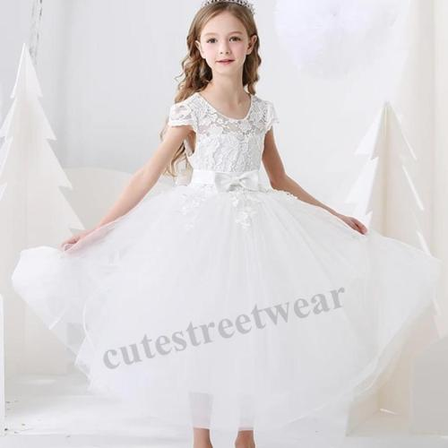 Girl's dress Princess Dress butterfly embellishment little host performance dress singing competition little girl's Birthday Dress