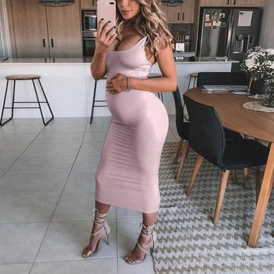 Maternity Solid Color Cami Dress