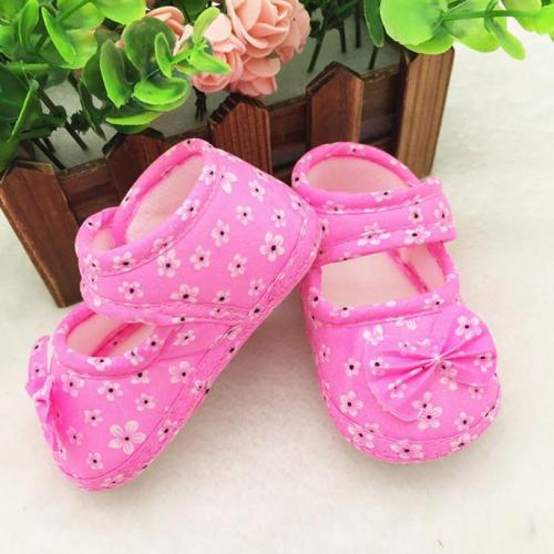 Newborn Shoes Kids Baby Bowknot Printing Newborn Cloth Shoes Baby Girl Boy Comfortable Cotton Small Toddler Shoes