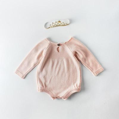 2020 New Baby Embroidered Sweater Knitting Wool One Piece Suit