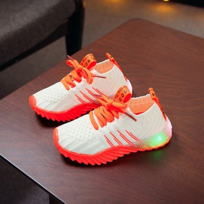 Fashion kids shoes ChildrenKid Baby Girls Boys Candy Color LED Luminous Sport Run Sneakers Shoes
