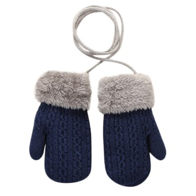 New baby gloves Toddler Baby Girls Boys Outdoor winter kids Patchwork Keep Warm Mittens kids gloves