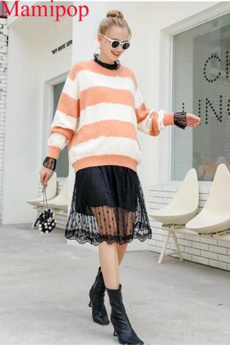 Pregnant Women Tops New Fashion Shirt Striped Knit Sweater