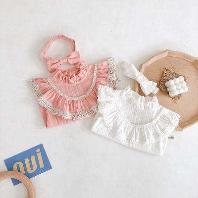 Baby children's One-piece Clothes Baby Girl Lace Ruffle Creeper