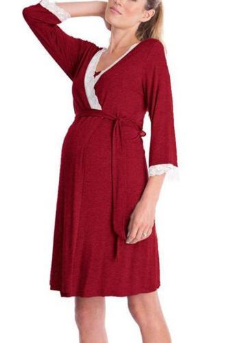 Maternity Feeding & Nursing 3/4 Sleeve Dress