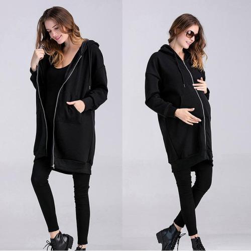 2020 Large Medium Length Plush Hooded Sweater Fashion Pregnant Women's Cartoon Coat
