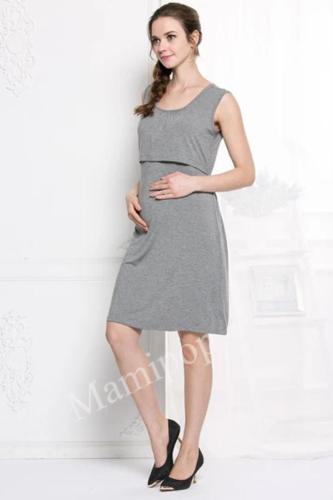 Pregnant Women's Dress Fashion Summer Breast-feeding Dress Pregnant Women's Sleeveless Back Skirt