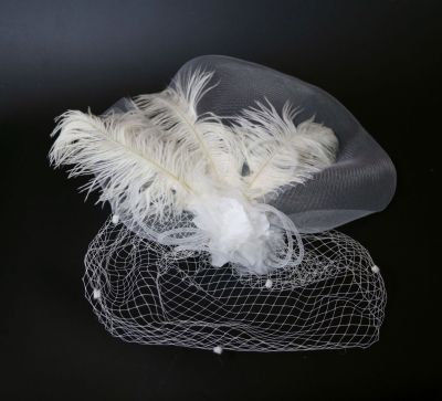 Headdress show stage gauze hair accessories covered big gauze hat
