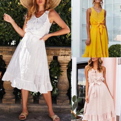 Maternity Lace Patchwork Waist Dress