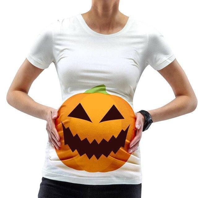 Halloween Pumpkin Print Clothing Breastfeeding  Top