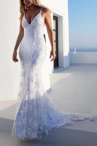 Maternity Sexy Spaghetti Strap Backless Floor-Length Casual Dress