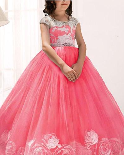 Mesh Gown Princess Fluffy Evening Dress