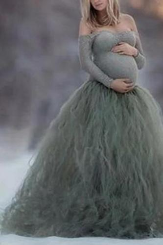 Maternity Novel Pure Color Tube top Dress