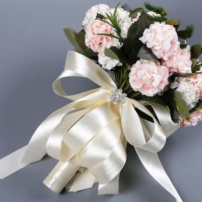Silk Artificial Hydrangea Flowers  Flower Bonquet WeddingDay