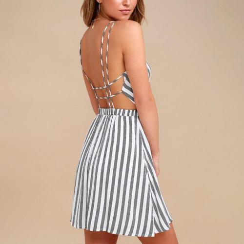 Maternity Stripe Cami Dress